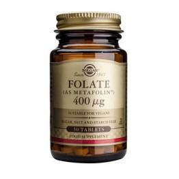 FOLATE 400μg (AS METAFOLIN) - (ΦΟΛΙΚΟ ΟΞΥ) SOLGAR tabs 50s SOLGAR