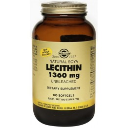 LECITHIN (ΛΕΚΙΘΙΝΗ ΑΠΟ ΣΟΓΙΑ ΣΕ ΚΑΨΟΥΛΕΣ) SOLGAR 1360mg softgels 100s