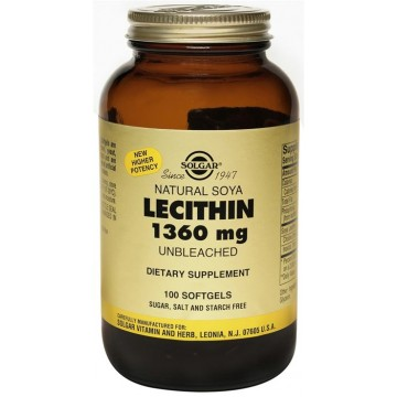 LECITHIN (ΛΕΚΙΘΙΝΗ ΑΠΟ ΣΟΓΙΑ ΣΕ ΚΑΨΟΥΛΕΣ) SOLGAR 1360mg softgels 250s ΛΙΠΙΔΙΑ ΑΙΜΑΤΟΣ