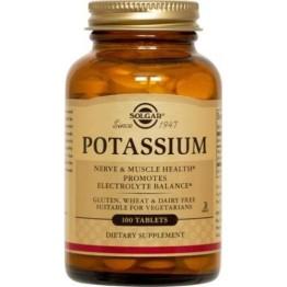 POTASSIUM GLUCONATE (ΓΛΥΚΟΝΙΚΟ ΚΑΛΙΟ) SOLGAR 99mg tabs 100s