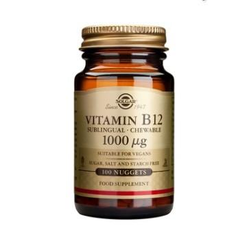VITAMIN B-12 (ΒΙΤΑΜΙΝΗ Β-12 ΣΕ ΥΠΟΓΛΩΣΣΙΑ ΔΙΣΚΙΑ) SOLGAR 1000μg nuggets 100s ΒΙΤΑΜΙΝΗ Β