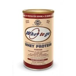 WHEY TO GO PROTEIN powder (ΠΡΩΤΕΪΝΗ ΟΡΟΥ ΓΑΛΑΚΤΟΣ) SOLGAR 454gr (σοκολάτα/φράουλα)