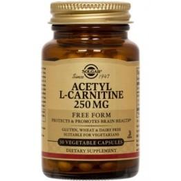 ACETYL-L-CARNITINE (ΑΚΕΤΥΛΙΚΗ ΜΟΡΦΗ ΤΗΣ ΚΑΡΝΙΤΙΝΗΣ) SOLGAR 250mg veg.caps 30s ΚΑΡΔΙΑΚΗ ΛΕΙΤΟΥΡΓΙΑ