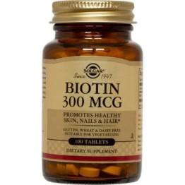 BIOTIN (ΒΙΟΤΙΝΗ) SOLGAR 300μg tabs 100s ΒΙΤΑΜΙΝΗ Β