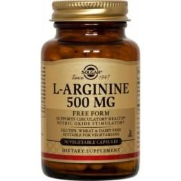 L-ARGININE (L-ΑΡΓΙΝΙΝΗ) SOLGAR 500mg veg.caps 50s ΥΠΕΡΤΑΣΗ