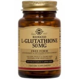 L-GLUTATHIONE (L-ΓΛΟΥΤΑΘΕΙΟΝΗ) SOLGAR 50mg veg.caps 30s ΗΠΑΤΙΚΗ ΛΕΙΤΟΥΡΓΙΑ