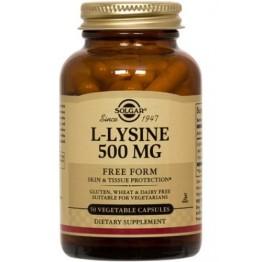 L-LYSINE (L-ΛΥΣΙΝΗ) SOLGAR 500mg veg.caps 50s
