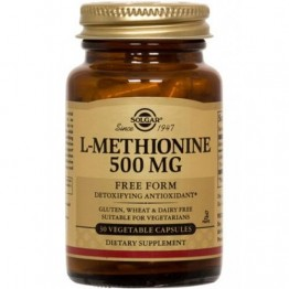 L-METHIONINE (L-ΜΕΘΕΙΟΝΙΝΗ) SOLGAR 500mg veg.caps 30s ΗΠΑΤΙΚΗ ΛΕΙΤΟΥΡΓΙΑ