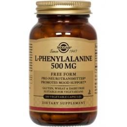 L-PHENYLALANINE (L-ΦΑΙΝΥΛΑΛΑΝΙΝΗ) SOLGAR 500mg veg.caps 50s ΑΓΧΟΣ