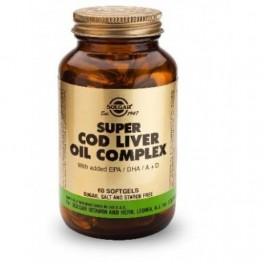 SUPER COD LIVER OIL COMPLEX (ΕΜΠΛΟΥΤΙΣΜΕΝΟ ΜΟΥΡΟΥΝΕΛΑΙΟ) SOLGAR softgels 60s