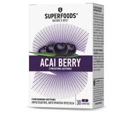 ACAI BERRY (ΜΟΥΡΟ ΑΚΑΙ) SUPERFOODS 30caps SUPERFOODS