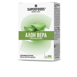 ALOE VERA (ΑΛΟΗ ΒΕΡΑ) SUPERFOODS 300mg 30caps SUPERFOODS
