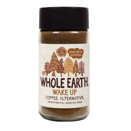 WAKE UP INSTANT COFFEE MADE WITH CEREAL & GUARANA (ΥΠΟΚΑΤΑΣΤΑΤΟ ΣΤΙΓΜΙΑΙΟΥ ΚΑΦΕ) WHOLE EARTH 125g ΥΠΟΚΑΤΑΣΤΑΤΟ ΚΑΦΕ