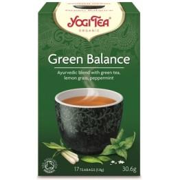 GREEN BALANCE TEA BIO (ΑΡΜΟΝΙΚΟ, ΔΙΕΓΕΡΤΙΚΟ) YOGI TEA 17 φακελάκια ΤΣΑΪ