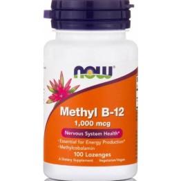 VITAMIN B-12 METHYL 1000mcg Methylcobalamin (ΜΕΘΥΛΟΚΟΒΑΛΑΜΙΝΗ) NOW FOODS 100lozenges ΒΙΤΑΜΙΝΗ Β